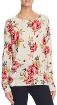 Joie Eloisa Rose Print Cashmere Sweater