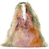 MM6 MAISON MARGIELA furry textured shoulder bag - women - Leather/Acrylic - One Size