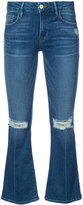 Frame cropped flared jeans - women - Cotton/Spandex/Elastane/other fibers - 25