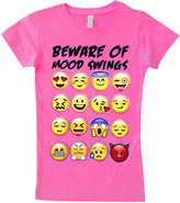 Micro Me Hot Pink 'Mood Swings' Emoji Fitted Tee - Toddler & Girls