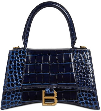 Balenciaga Sm Hourglass Printed Leather Bag