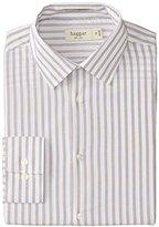 Haggar Men's Mechanical Stretch Bold Stripe Long-Sleeve Dress Shirt