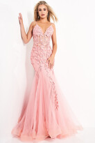 Thumbnail for your product : Jovani Floral Mermaid Informal Wedding Gown