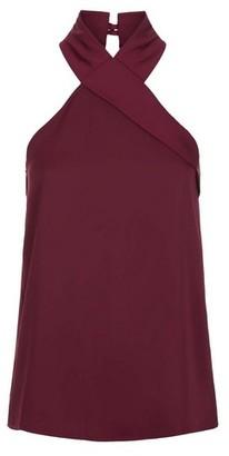 Dorothy Perkins Womens *Vesper Purple Halter Neck Top, Purple