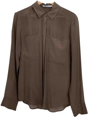 Alexander Wang Brown Silk Top for Women