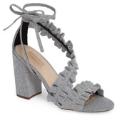 Topshop Women's Real Asymmetrical Ruffled Sandal