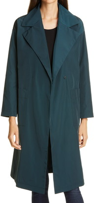 Eileen Fisher Notch Collar Trench Coat