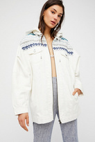 Free People Yarn Dye Denim Parka