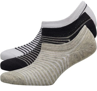 Fruit Cake Fruitcake Womens Invisible Trainer Liners Striped/Black Grey White