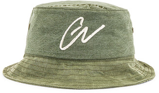 Greg Lauren GL Army Bucket Hat in Army   FWRD