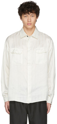 424 Off-White Striped Work Shirt