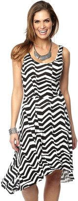 Topsanddresses Ladies Black White Stretchy Striped Summer Dress UK Size 8 eu 34
