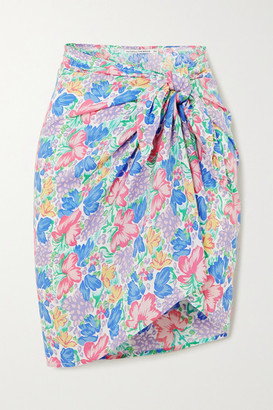 Faithfull The Brand Net Sustain Floral-print Voile Pareo - Pink