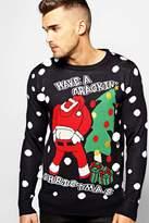 Boohoo Crackin' Christmas Novelty Jumper