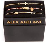 Alex and Ani Mini Cross Bracelet Gift Set, Gold