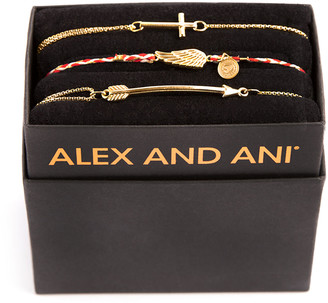 Alex and Ani Mini Cross Bracelet Gift Set, Gold
