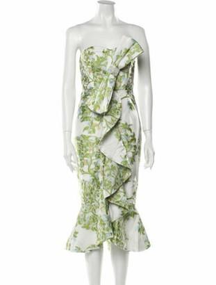 Mestiza New York Floral Print Knee-Length Dress w/ Tags Green