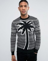 Diesel K-WALL Palm Pattern Sweater