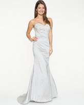 Le Château Embellished Taffeta Strapless Mermaid Gown