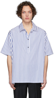 Martin Asbjorn White and Blue Striped Greenleaf Shirt