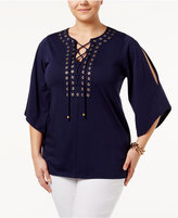 MICHAEL Michael Kors Size Hardware Lace-Up Top