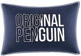 Original Penguin Owen Canvas & Denim Logo Pillow