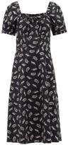 HVN Holland Leopard-print Cotton-blend Dress - Womens - Black Print