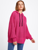 hot pink knit sweater - ShopStyle