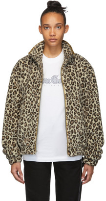 Noon Goons Brown and Gold Faux-Fur Leopard Jacket