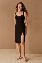 Thumbnail for your product : BHLDN Ana Crepe Midi Dress By in Black Size 16
