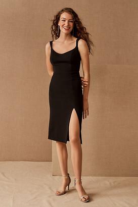 BHLDN Ana Crepe Midi Dress By in Black Size 16