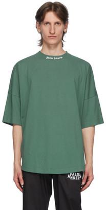 Palm Angels Green Classic Logo T-Shirt