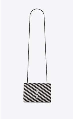 Saint Laurent Kate Small In Striped Satin
