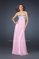 La Femme Ethereally Sequined Sweetheart Empire Gown 16977