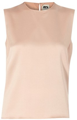Maison Rabih Kayrouz Satin sleeveless top