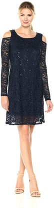 Tiana B T I A N A B. Women's Cold Shoulder Sequin Lacedress