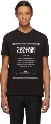 Versace Black and White Warranty Label T-Shirt