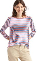Gap Stripe long sleeve slub tee