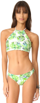 Shoshanna High Neck Halter Bikini Top