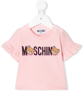 MOSCHINO BAMBINO Teddy Bear logo T-shirt