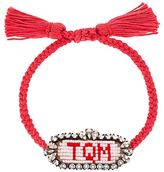 Shourouk 'TQM' beaded bracelet