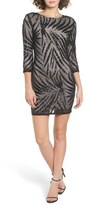 TFNC Women's Paris Sequin Leaf Dress