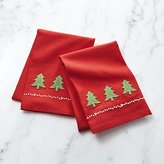 Crate & Barrel Holiday Tree Dish Towels Set of 2