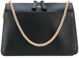 A.P.C. gold chain strap shoulder bag - women - Cotton/Leather - One Size