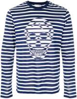 Alexander McQueen skull striped T-shirt