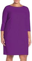Tahari Seamed A-Line Dress (Plus Size)