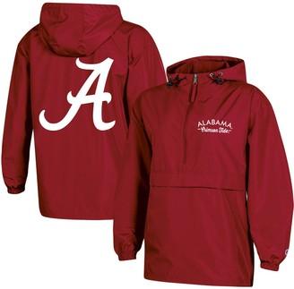 Champion Women's Crimson Alabama Crimson Tide Packable Half-Zip Light Rain Jacket