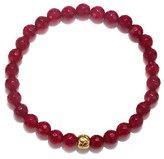 Satya Goldtone Brass Station Gemstone Stretch Bracelet