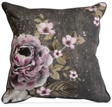 "Graham & Brown Gray Floral 20"" Square Decorative Pillow"