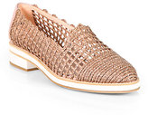 Stuart Weitzman Intermezzo Woven Twine & Leather Loafers